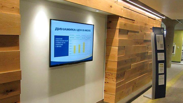 Цифровые экраны в бизнес-центрах
