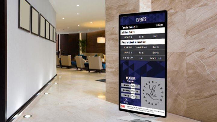 Экран в бизнес-центре