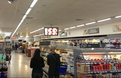 цифровой экран в магазине
