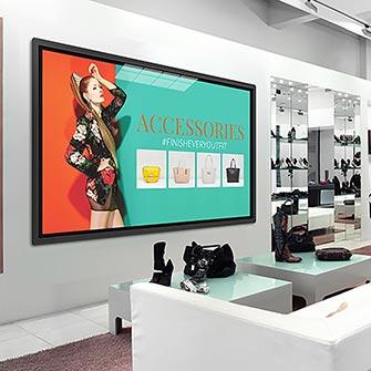 Рекламные слайд-шоу в магазинах